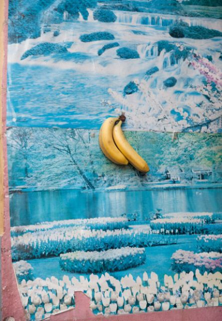 banana on wall